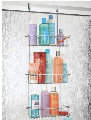 mDesign Metal Over Shower Door Caddy, Hanging Bathroom Storage Organizer Center for Sale in Moreno Valley, CA