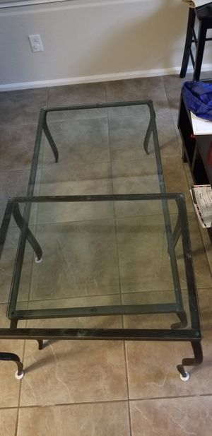 Z Gallery Black Iron Coffee and End table for Sale in Phoenix, AZ