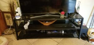 TV STAND BLAK GLAS for Sale in Ontario, CA