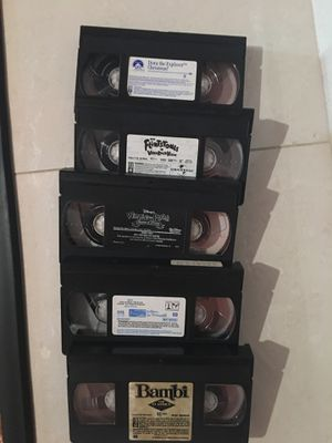 5 VHS cartoon animation movie , 5 for $10 for Sale in Burbank, CA