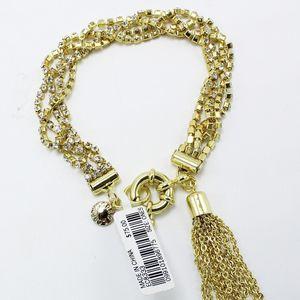 J. Crew Gold Rhinestone Tassel Bracelet for Sale in Houston, TX