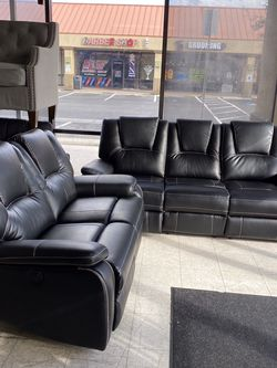 Sofa Set Black Color Power Recliners (grey Color Also Available ) for Sale in Las Vegas,  NV