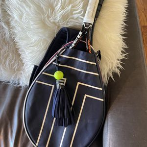 TORY BURCH SPORT NAVY TENNIS RACKETS BAG (FITS 2 RACKETS) for Sale in San Diego, CA