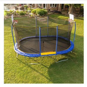 Trampoline 10 x 15 with two basketball hoops for Sale in Bellflower, CA