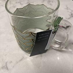 STARBUCKS 50TH ANNIVERSARY LIMITED EDITION MERMAID SIREN TAIL GLASS 12OZ MUG for Sale in Jacksonville Beach,  FL