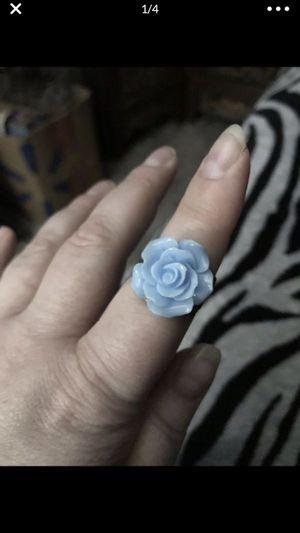 Cute blue rose 🌹 adjustable ring for Sale in San Bernardino, CA
