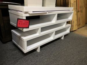 Elegant white finish TV stand for Sale in Irving, TX