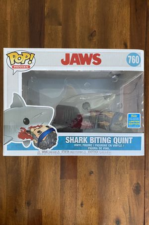 Funko Pop! Shark Biting Quint SDCC Exclusive - $75 for Sale in Tolleson, AZ