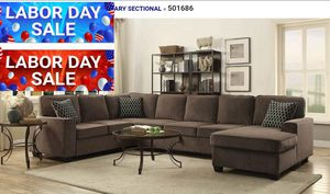 Lite brown sectional with storage for Sale in Oakland Park, FL