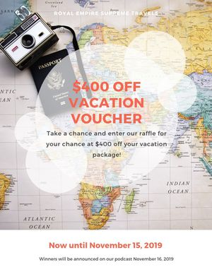$400 Off Vacation Voucher for Sale in Jacksonville, AR