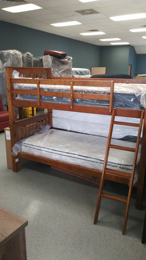 Twin bunk bed frame only mattress not included for Sale in ...