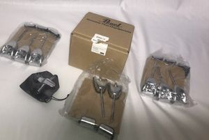 NIB OEM PEARL BASS DRUM CLAW ASSEMBLY 16 SETS WITH DRUM KEY AND TENSION BOLT BLACK for Sale in Phoenix, AZ