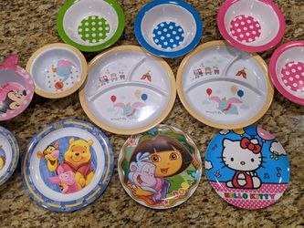Set Children or Toddler Bowls and Plates for Sale in Chandler,  AZ