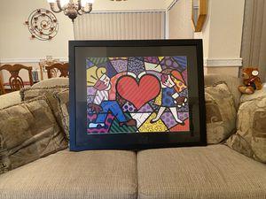 Britto heart artwork for Sale in Boca Raton, FL
