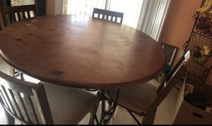 Wood Table And 5 Chairs for Sale in North Las Vegas, NV