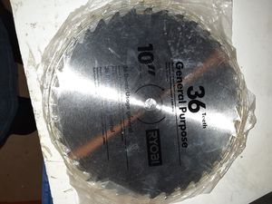 "10"" 36t ryobi table miter saw blade for Sale in Hemet, CA"