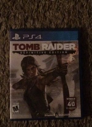 PS4 Tomb raider definitive edition for Sale in Clackamas, OR