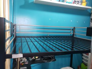 Metal Bed Frame With Desk On The Bottom for Sale in New York, NY