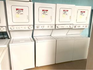 """24"""" stackable washer and dryer 90 days warranty for Sale in Glyndon, MD"""