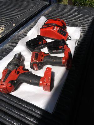 Combo de milwaukee BRUSHLESS FUEL usados Taladro martillo impacto dos pilas cargador for Sale in Dallas, TX