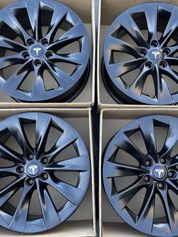 """19"""" Tesla Slipstream Factory Oem Rims Wheels Satin Black New for Sale in Tustin,  CA"""