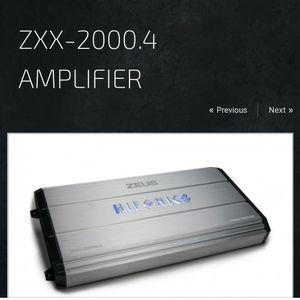 Hifonics 4 Channel 2000 Watts Amplifier for Sale in Garden Grove, CA