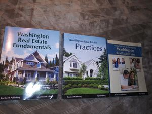 Washington State Real Estate Books, set of 3, $15 each or $35 for all 3 for Sale in Buckley, WA