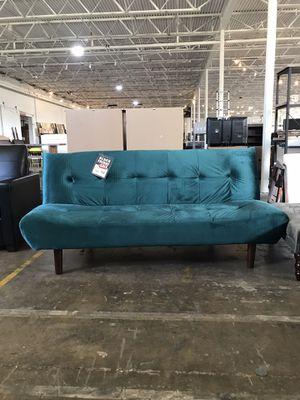 Elegant Teal Velvet Futon ‼️Black Friday Sale‼️ for Sale in Dallas, TX