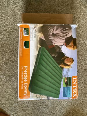 Queen air mattress with pump for Sale in Manchester, CT