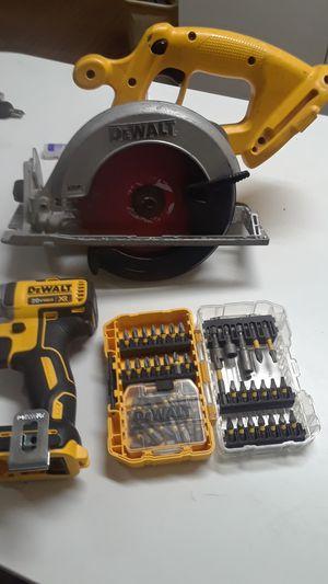 Two cord impact drills ,heavy duty DeWalt drill & a DeWalt grinder package deal for Sale in Everett, WA