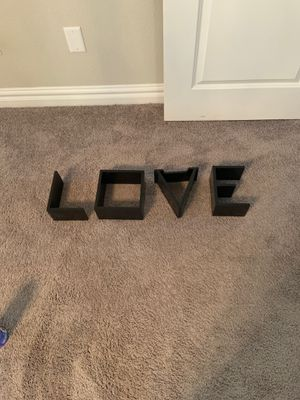 Wal shelf blocks -LOVE for Sale in Chesapeake, VA