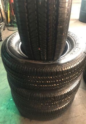 Set 265/65/17 Bridgestone Dueler semi new for Sale in Paramount, CA