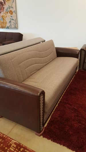 European Sofa Bed + Loveseat With Storage for Sale in Niles, IL