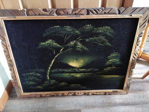 Velvet painting and frame for Sale in Eau Claire, WI