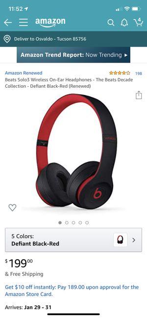 Beats solo 3 wireless for Sale in Tucson, AZ