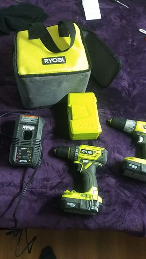 Ryobi 18V lithium 1 + cordless drill with charger and bag and drill bits for Sale in Fort Worth, TX