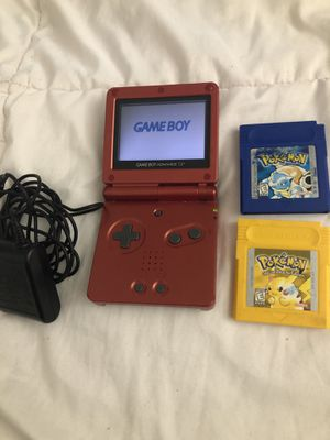 GameBoy SP with Pokémon games for Sale in Fort Lauderdale, FL