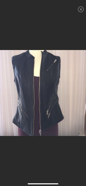 Leather motorcycle vest for Sale in Bristol, RI