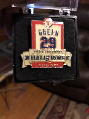 "Texas Rangers ""Rusty Greer""baseball pendant for Sale in Dallas, TX"