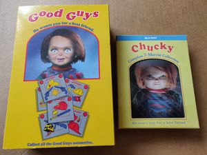 """2004 NECA REEL TOYS CHILDS PLAY CHUCKY """"GOOD GUYS DOLL """" ACTION FIGURE BLU-RAY BUNDLE for Sale in Sanford, FL"""