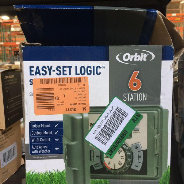Orbit 6-Station Easy-Set Logic Indoor/Outdoor Sprinkler Timer