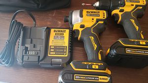 Dewalt 20volt impact driver and drill driver 2 batteries and a charger!! for Sale in Phoenix, AZ