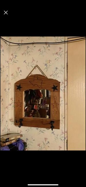 Hanging mirror w/hooks for Sale in Athens, TX