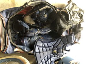Baseball catcher's gear and glove for Sale in Virginia Beach, VA