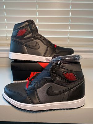 Nike air Jordan 1 satin black size 15 brand new for Sale in New Braunfels, TX