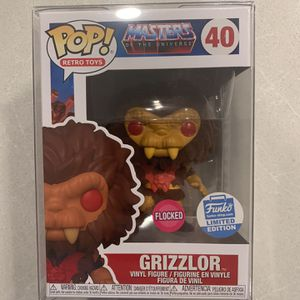 Flocked Grizzlor He-Man Funko Pop *MINT IN HAND* Online Shop Exclusive Masters of the Universe MotU Retro Toys 40 with Protector for Sale in Lewisville, TX