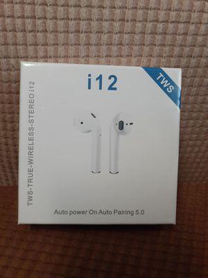 I12 bluetooth earphone, bluetooth, earphones, headphone, bluetooth earphones for Sale in Monterey Park, CA