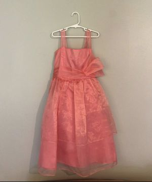 Peach colored fancy girls dress size 12 for Sale in Vancouver, WA