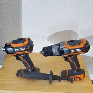 RIDGID 18-Volt Lithium-Ion Cordless Hammer Drill and Impact Driver 2-Tool for Sale in Phoenix, AZ