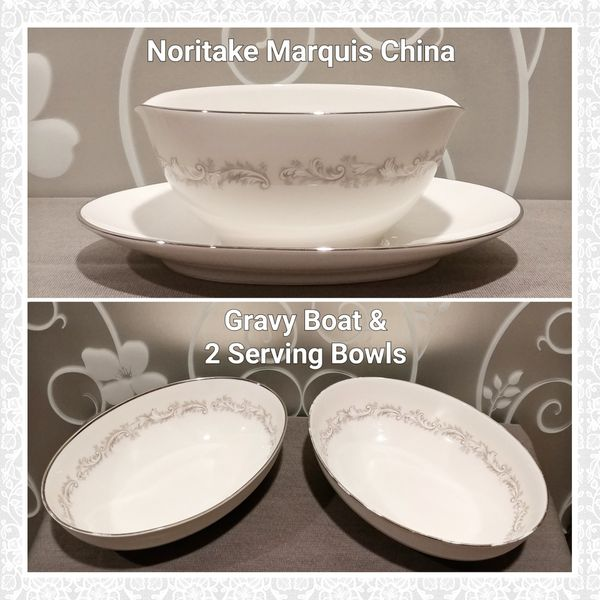3 PCS NORITAKE MARQUIS CHINA (READ)